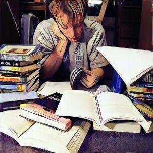 stressedstudentwithbooks