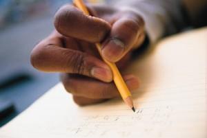 Essay in pencil