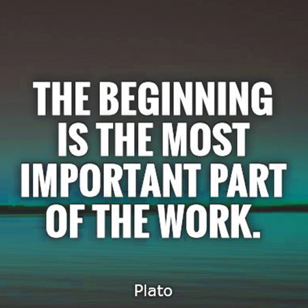 The beginning is the most important part of the work